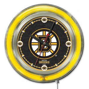 Boston Bruins 15-Inch Neon Clock