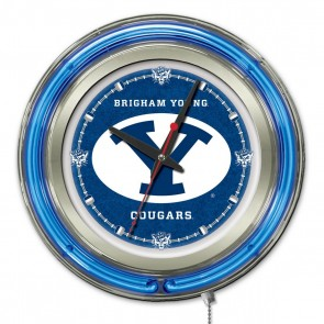 Brigham Young 15-Inch Neon Clock