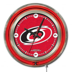 Carolina Hurricanes 15-Inch Neon Clock
