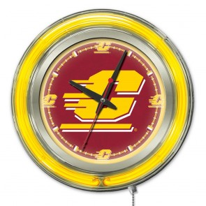 Central Michigan 15-Inch Neon Clock