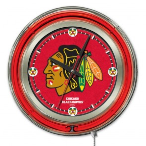 Chicago Blackhawks 15-Inch Neon Clock