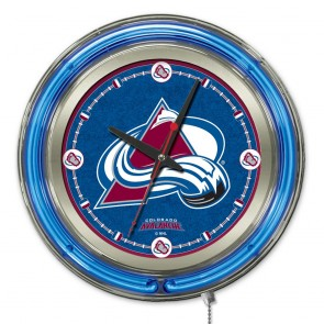 Colorado Avalanche 15-Inch Neon Clock