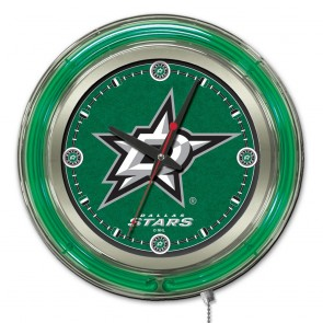 Dallas Stars 15-Inch Neon Clock