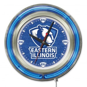 Eastern Illinois 15-Inch Neon Clock