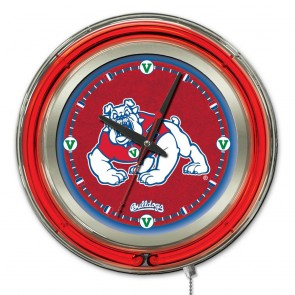Fresno State 15-Inch Neon Clock
