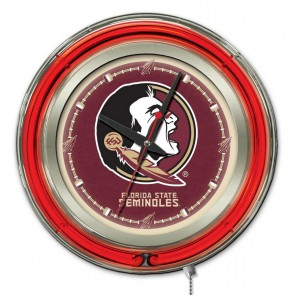 Florida State Head 15-Inch Neon Clock