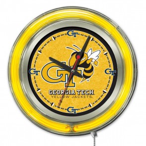 Georgia Tech 15-Inch Neon Clock