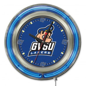 Grand Valley State 15-Inch Neon Clock