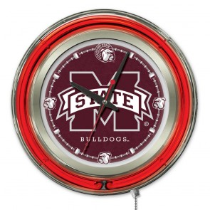 Mississippi State 15-Inch Neon Clock