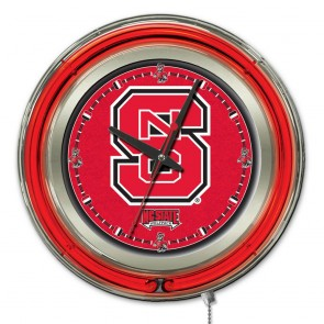 North Carolina State 15-Inch Neon Clock