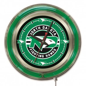 North Dakota 15-Inch Neon Clock