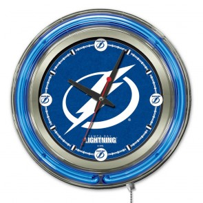 Tampa Bay Lightning 15-Inch Neon Clock