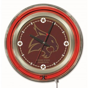 Texas State 15-Inch Neon Clock