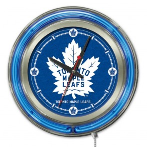 Toronto Maple Leafs 15-Inch Neon Clock