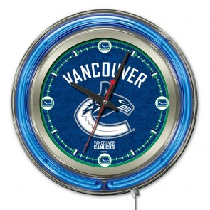 Vancouver Canucks 15-Inch Neon Clock