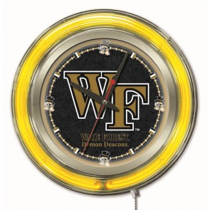 Wake Forest 15-Inch Neon Clock