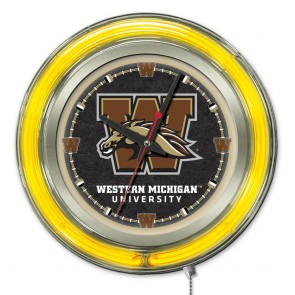 Western Michigan 15-Inch Neon Clock