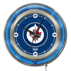 Winnipeg Jets 15-Inch Neon Clock