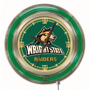 Wright State 19-Inch Neon Clock