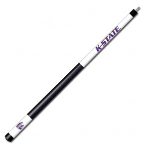 Kansas State White/Purple Engraved Billiard Cue