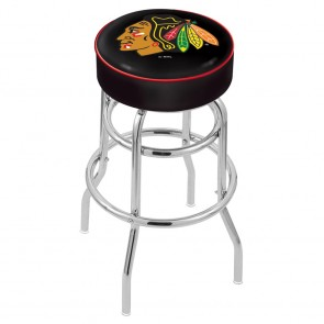 L7C1 Chicago Blackhawks Bar Stool w/Black Background