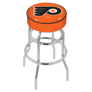 L7C1 Philadelphia Flyers Bar Stool w/Orange Background