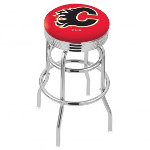 L7C3C Calgary Flames Bar Stool