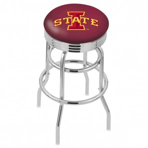 L7C3C Iowa State Bar Stool