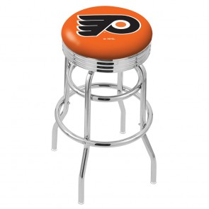 L7C3C Philadelphia Flyers Bar Stool w/Orange Background