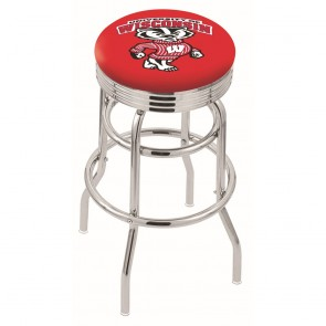 L7C3C Wisconsin Badger Bar Stool