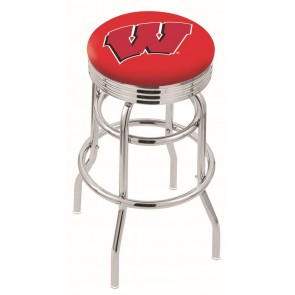 L7C3C Wisconsin W Bar Stool