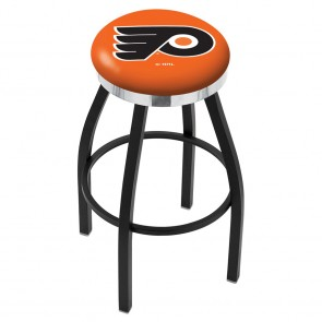 L8B2C Philadelphia Flyers Bar Stool w/Orange Background