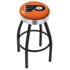 L8B3C Philadelphia Flyers Bar Stool w/Orange Background