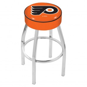 L8C1 Philadelphia Flyers Bar Stool w/Orange Background