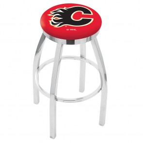 L8C2C Calgary Flames Bar Stool