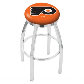 L8C2C Philadelphia Flyers Bar Stool w/Orange Background