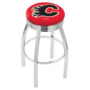 L8C3C Calgary Flames Bar Stool