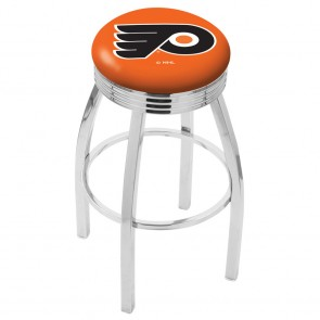 L8C3C Philadelphia Flyers Bar Stool w/Orange Background
