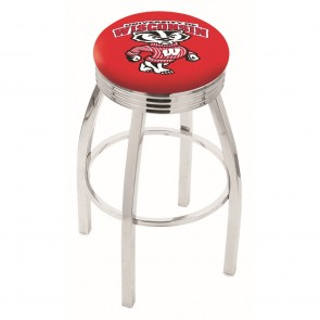 L8C3C Wisconsin Badger Bar Stool