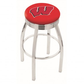 L8C3C Wisconsin W Bar Stool