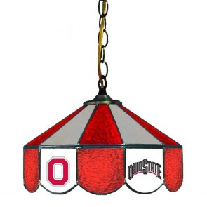 "Ohio State Block O and Wordmark 14"" Swag Hanging Lamp"