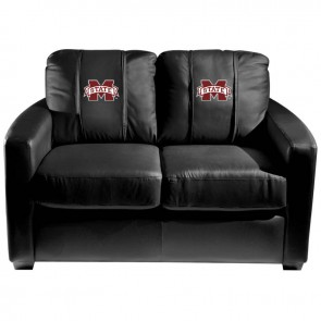 Mississippi State Dillon Silver Loveseat