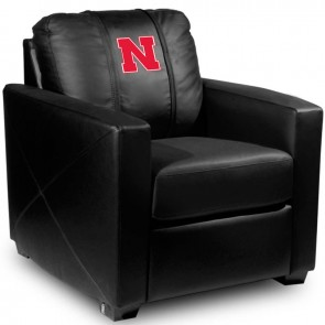 Nebraska Dillon Silver Club Chair