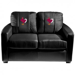 Virginia Tech Hokies Stand Dillon Silver Loveseat