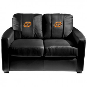 Oklahoma State Dillon Silver Loveseat