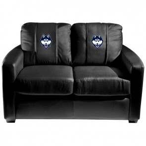 University of Connecticut Dillon Silver Loveseat