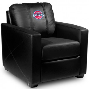 Detroit Pistons Dillon Silver Club Chair