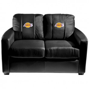 Los Angeles Lakers Dillon Silver Loveseat