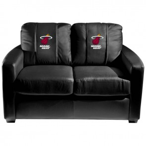 Miami Heat Dillon Silver Loveseat