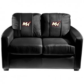 Miami Heat Secondary Dillon Silver Loveseat